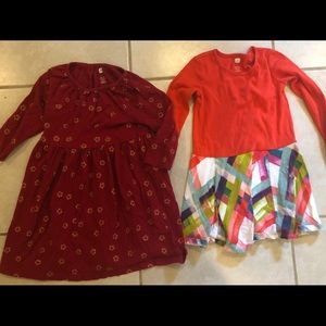 Lot of 2 TEA dresses size 5